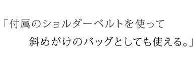 バンブー 2way ショルダー ~黒桟革~