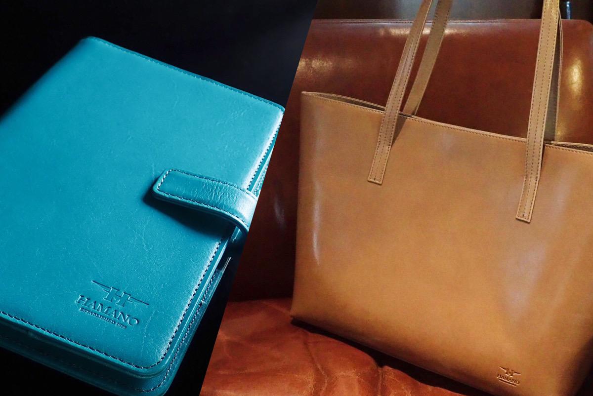 新商品誕生!!HAMANO クラッシートートバッグ&マルチカードケース